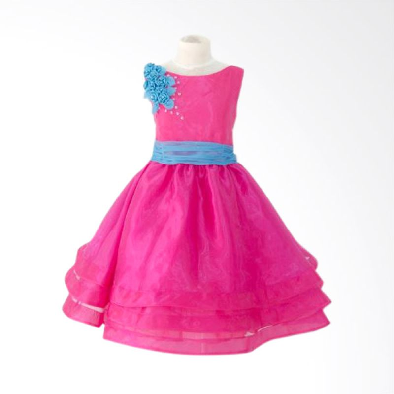 Megumi House Blue List with Pink Dress Anak