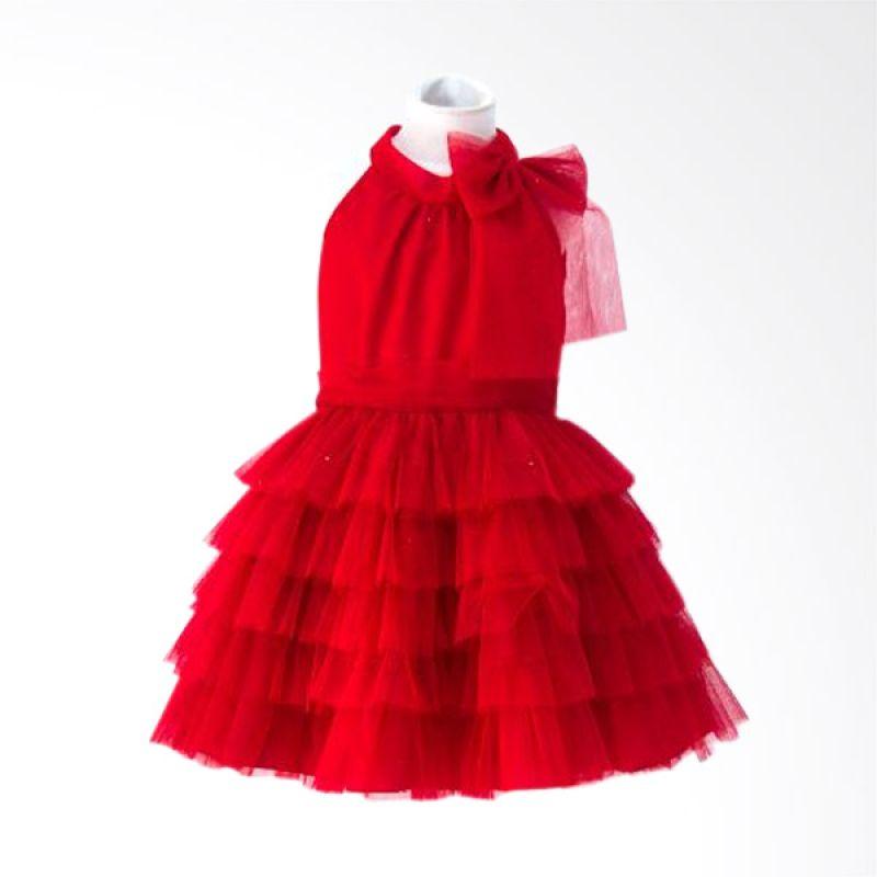 Megumi House Halterneck Layer Merah Dress Anak