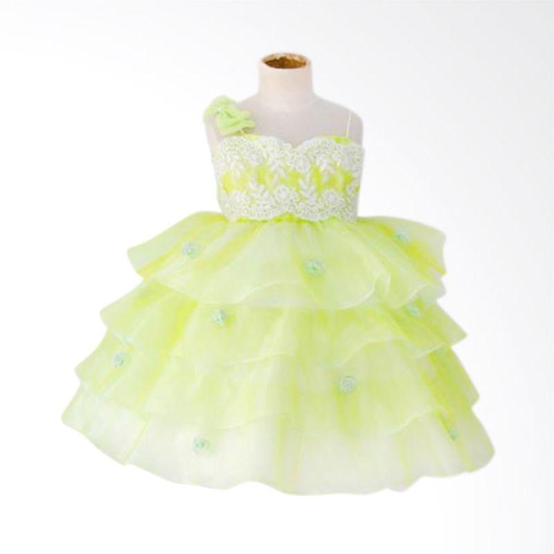 Megumi House Ruffle Hijau Dress Anak