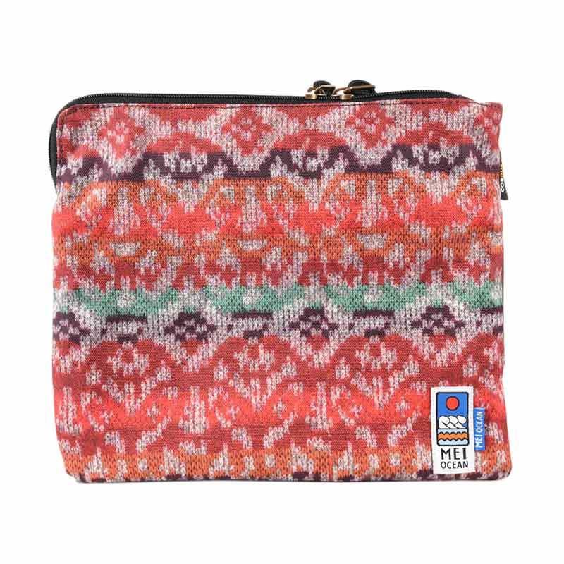 Mei Bag Ocean Handle Snowflake Red Clutch