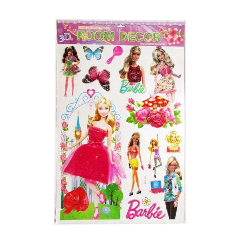 Barbie HF Stiker Dekor Room 3D