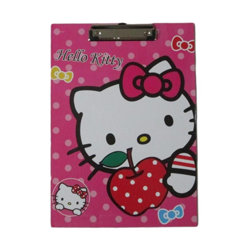 MeilynGiftShop Hello Kitty L Pink Papan Alas Ujian