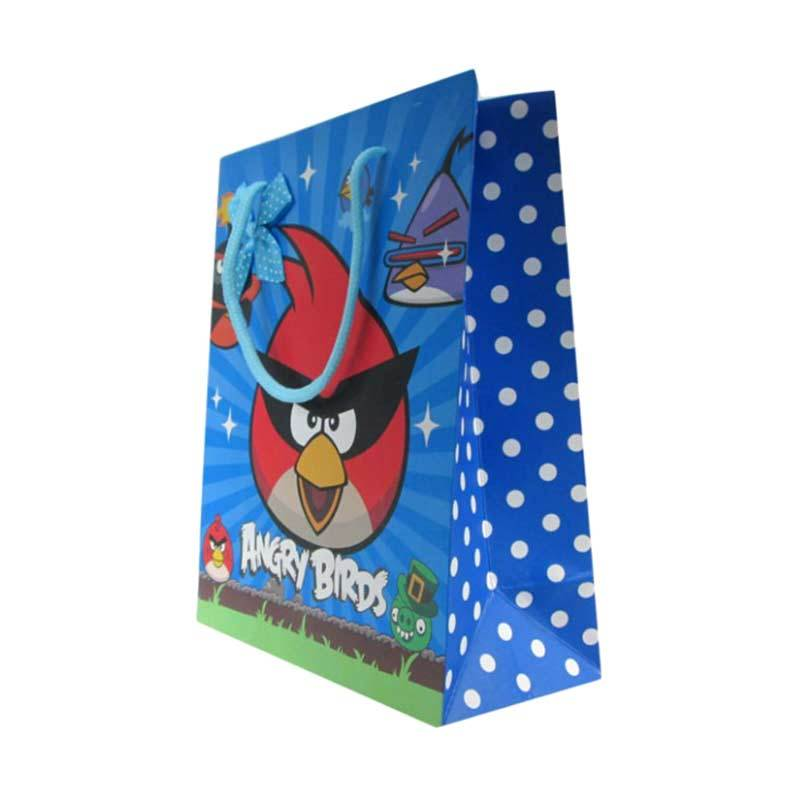 MeilynGiftShop Cartoon Angry Bird Biru Paperbag [Size M]