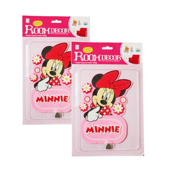 Meilyngiftshop Adhesive Hook Decor Room Minnie Mouse [2 pcs]