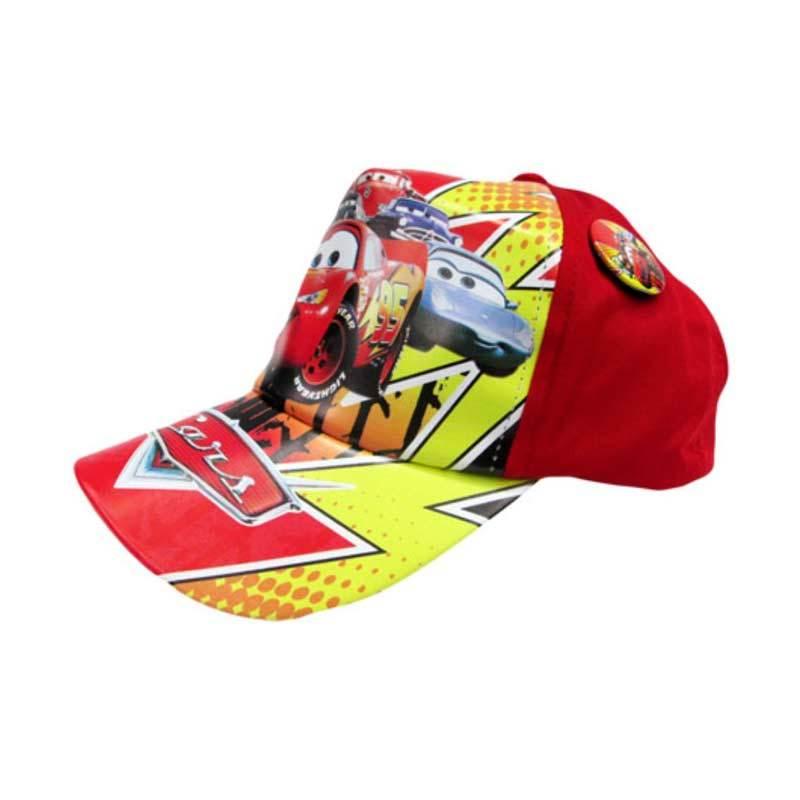 MeilynGiftShop Cars Merah Topi Anak