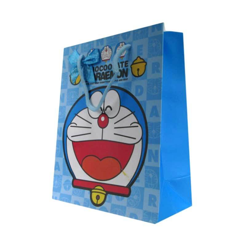 MeilynGiftShop Cartoon Doraemon Biru Paperbag [Size M]