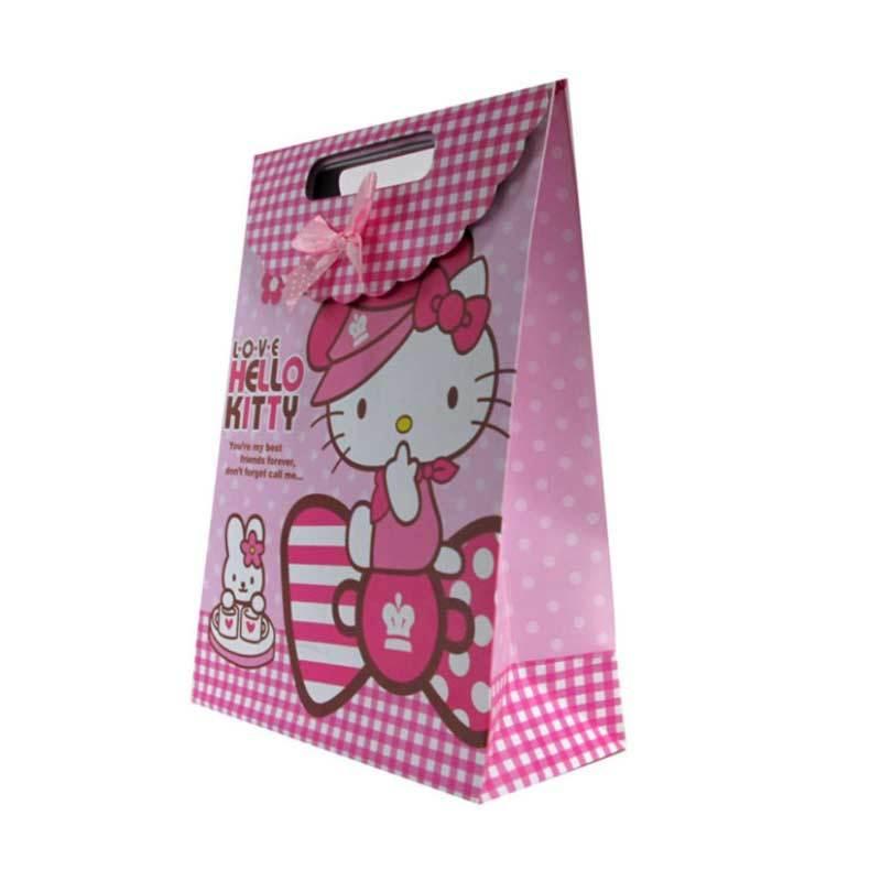 MeilynGiftShop Cartoon Hello Kitty Pink Paperbag [Size M]