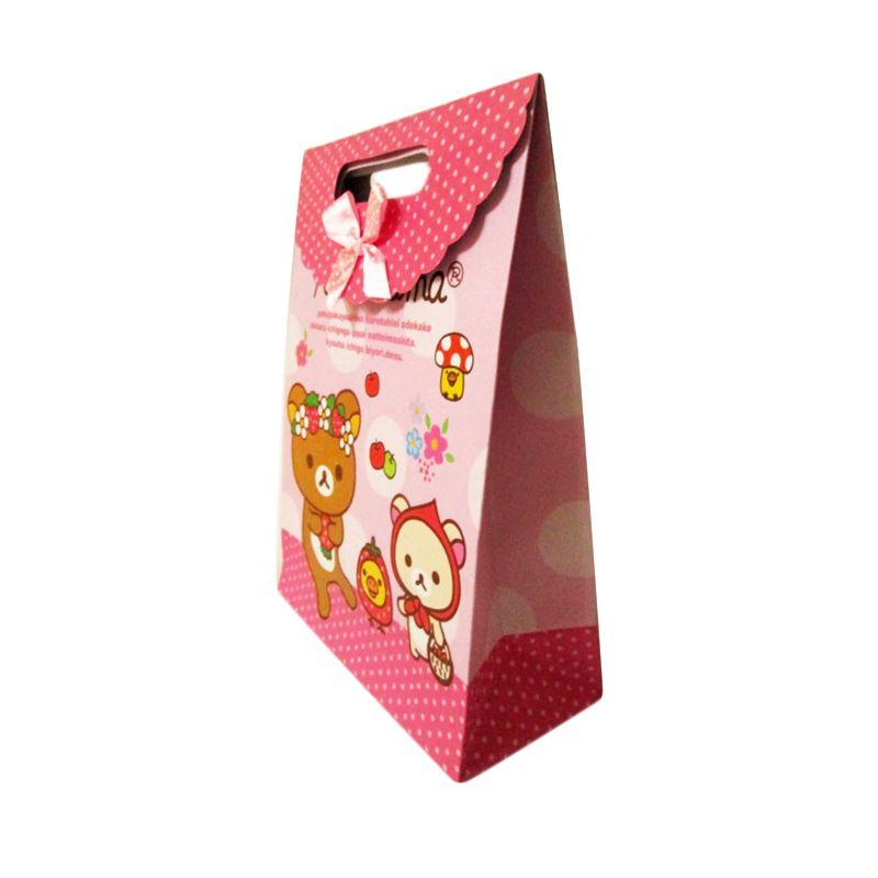 MeilynGiftShop Cartoon Rilakkuma Pink Paperbag [Size L]