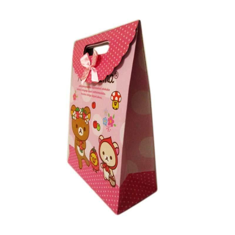 MeilynGiftShop Cartoon Rilakkuma Pink Paperbag [Size M]