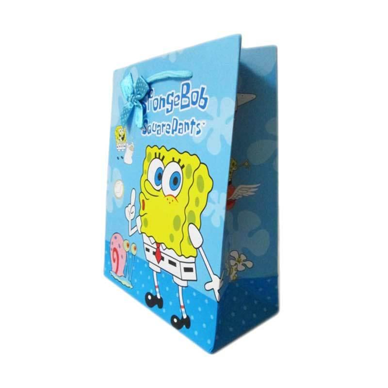 MeilynGiftShop Cartoon Spongebob Biru Paperbag [Size M]