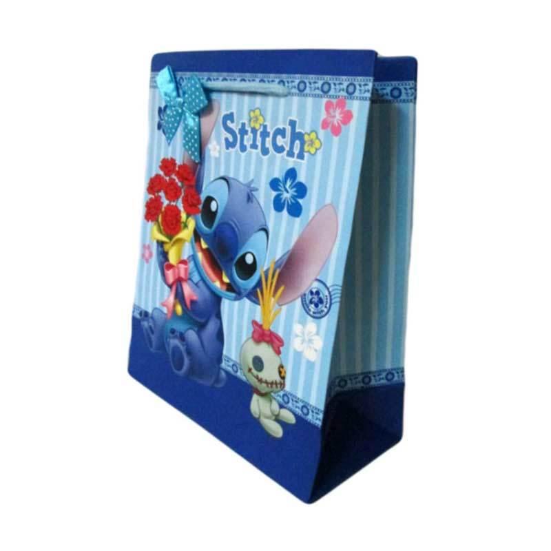 MeilynGiftShop Cartoon Stitch Biru Paperbag [Size M]