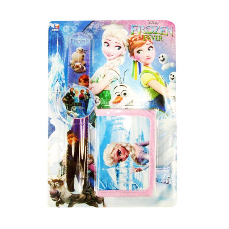 Jual MeilynGiftShop Frozen Fever Biru Set Dompet dan Jam