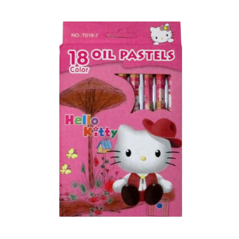 MeilynGiftShop Hello Kitty Crayon Set Alat Mewarnai [18 Pcs]