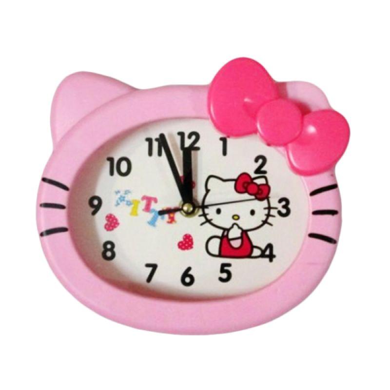 MeilynGiftShop Kepala Hello Kitty BY9001 Pink Jam Dinding