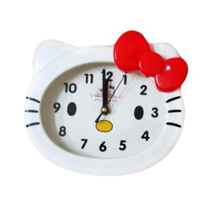MeilynGiftShop Kepala Hello Kitty BY9001 Putih Jam Dinding