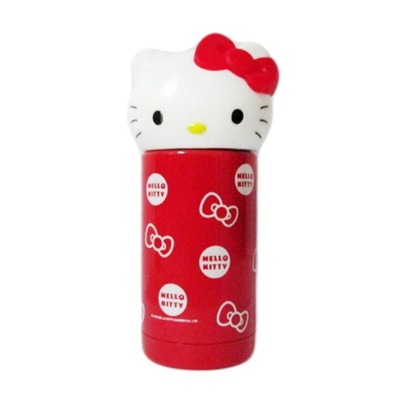 MeilynGiftShop Kepala Hello Kitty Stainless Red Termos [260 mL]