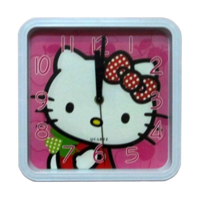 MeilynGiftShop Kotak Hello Kitty 66176 Jam Dinding