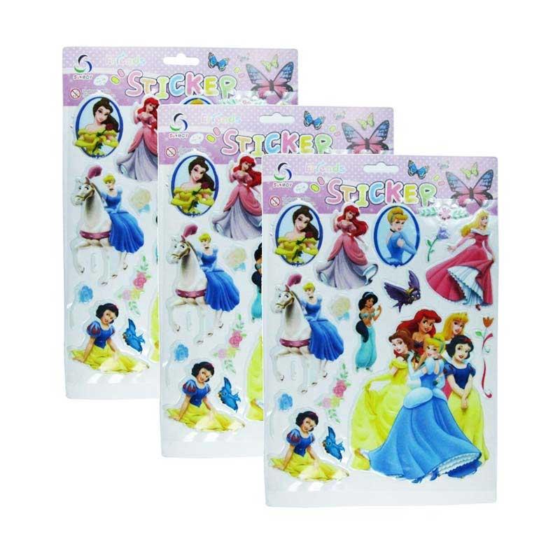 Meilyngiftshop Princess Stiker Emboss [3 pcs]