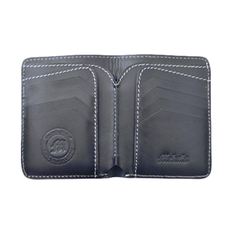 Mekafa Gearsion Wallet Genuine Leather Black Dompet Pria