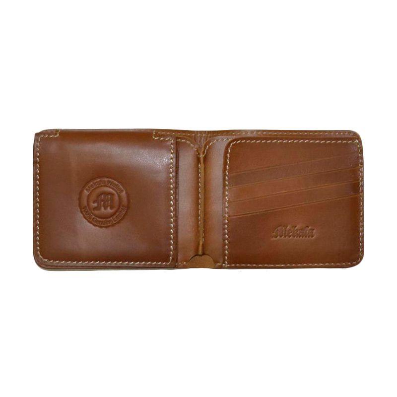 Mekafa Preshion Wallet Genuine Leather Brown Dompet pria