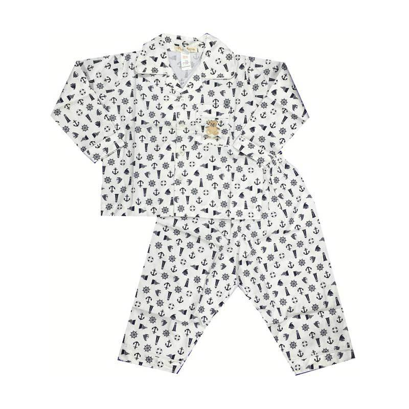 Melodybabynkids Anchor Long Sleeve White