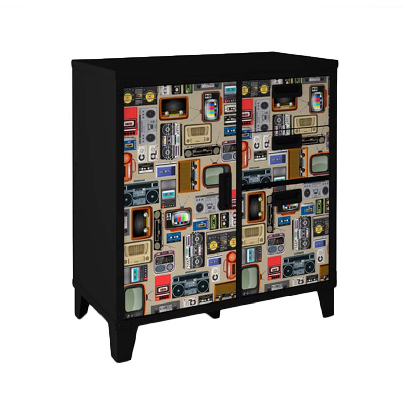 harga Melody Radio Drawer Chest - Black Blibli.com