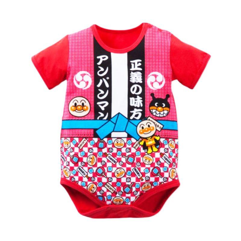 Melvieshop Kimono Merah Jumper Bayi