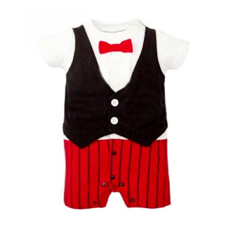 Melvieshop Kostum Onesia Dasi Merah Jumpsuit Anak