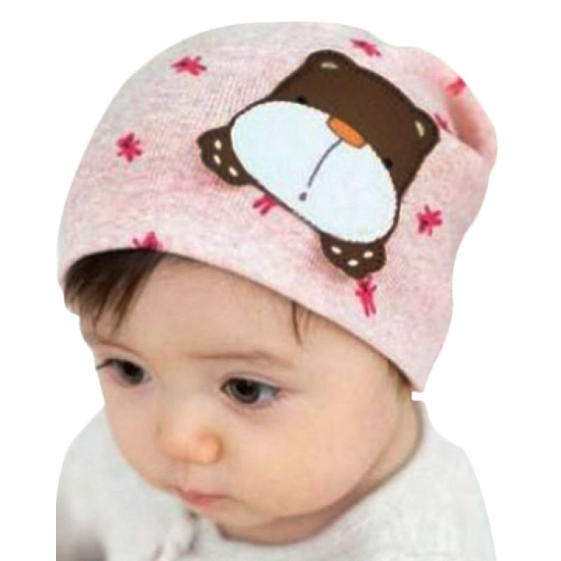 Melvieshop Kupluk Hippo Pink Topi Anak