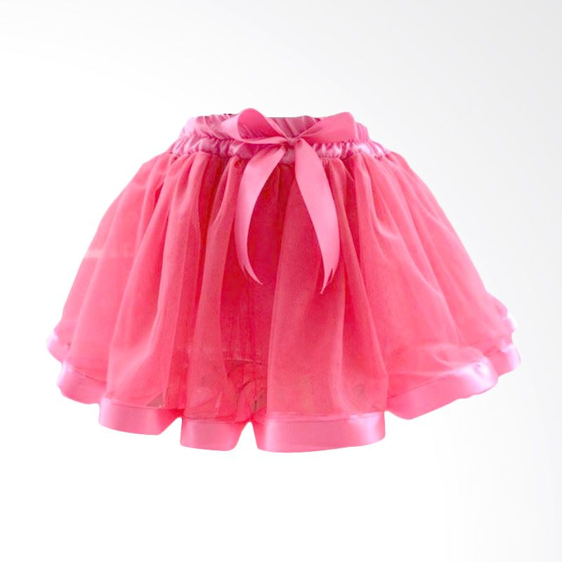 Melvieshop Ribbon Tutu Hot Pink Skirt