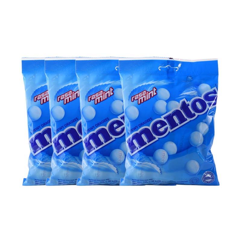 Mentos Mint - Halal 100200 [50 gram x 4 Pcs]