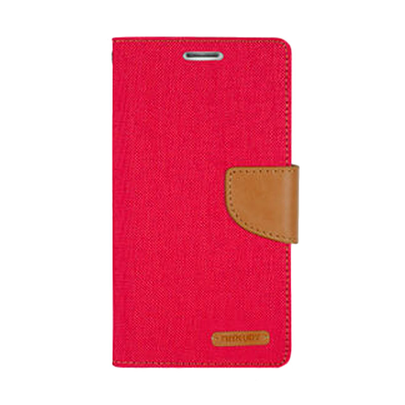 harga Mercury Canvas Diary Case Samsung Galaxy Note 4 Flip Cover - Merah Blibli.com