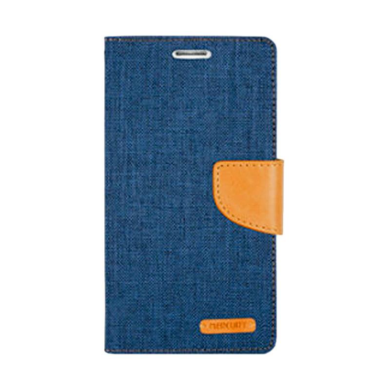 harga Mercury Canvas Diary Flip Cover Casing for Sony Xperia M4 Aqua - Navy Blibli.com
