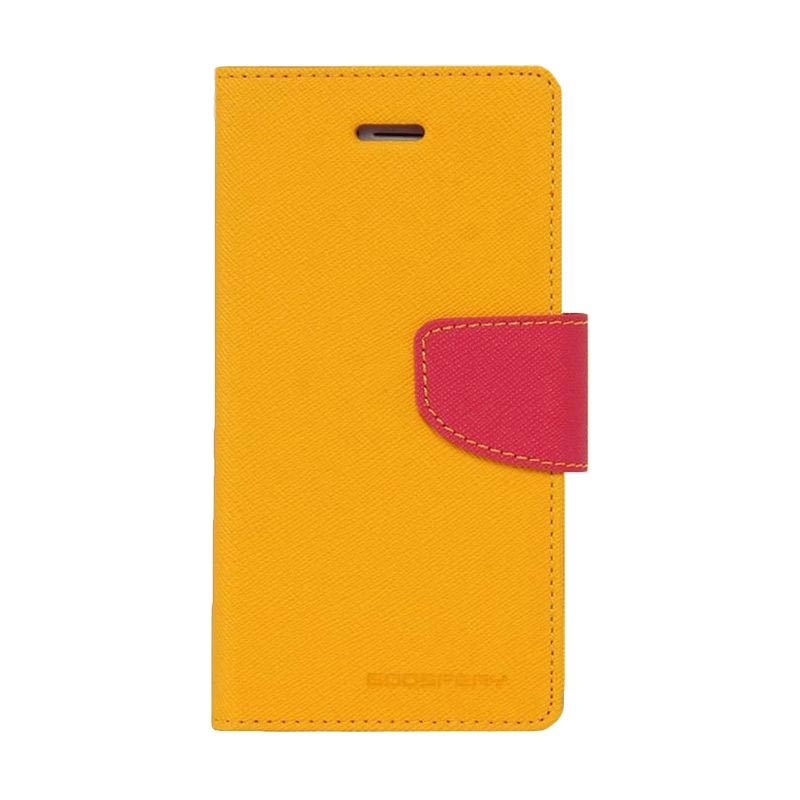 Mercury Fancy Diary Casing for Moto E - Kuning Magenta