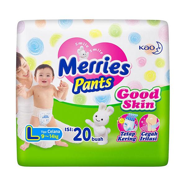 Merries Pants Good Skin L Popok Bayi [20pcs]