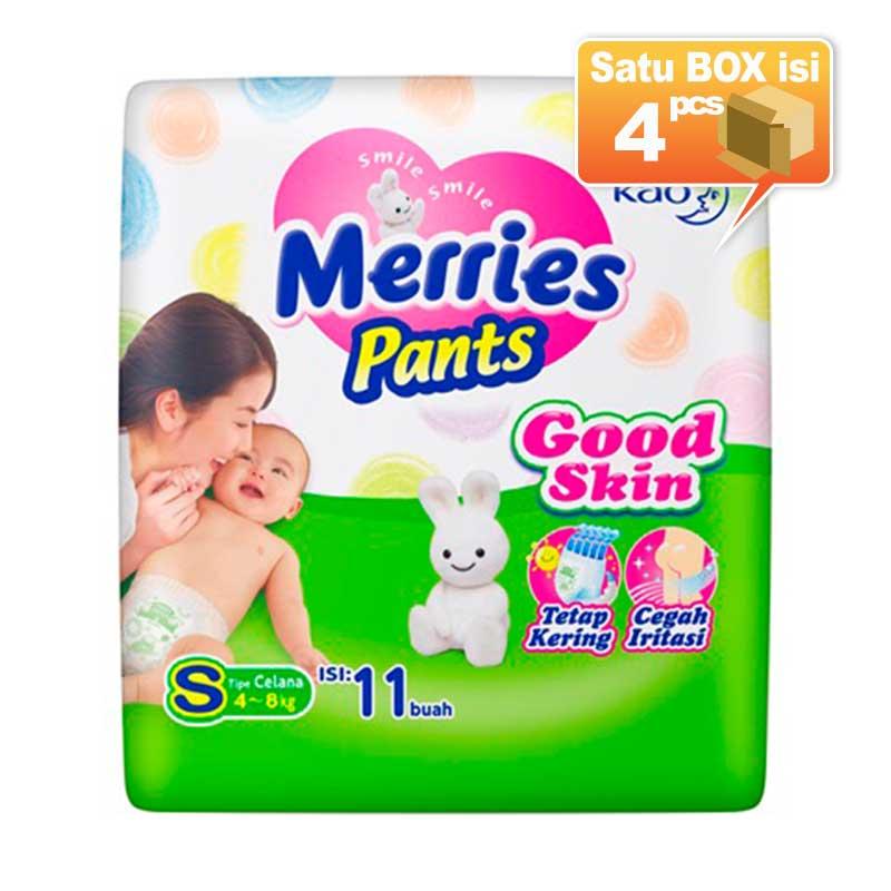 Merries Pants Good Skin S 11 Popok Bayi [4 Pcs/Karton]