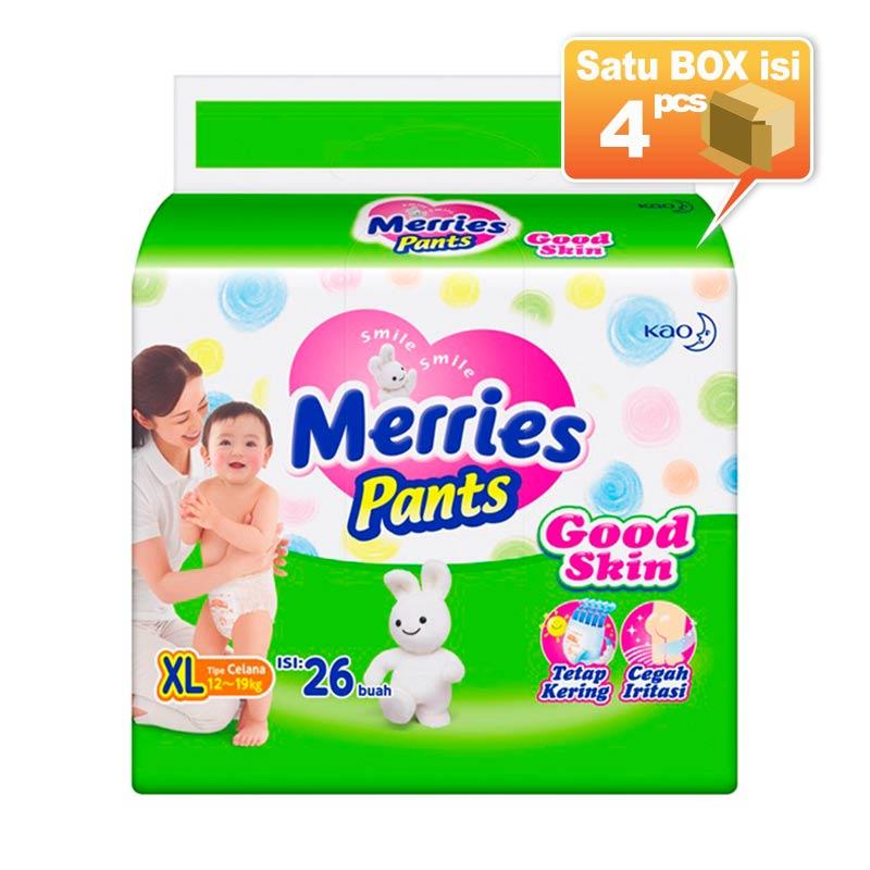 Merries Pants Good Skin S 26 Popok Bayi [4 Pcs/Karton]