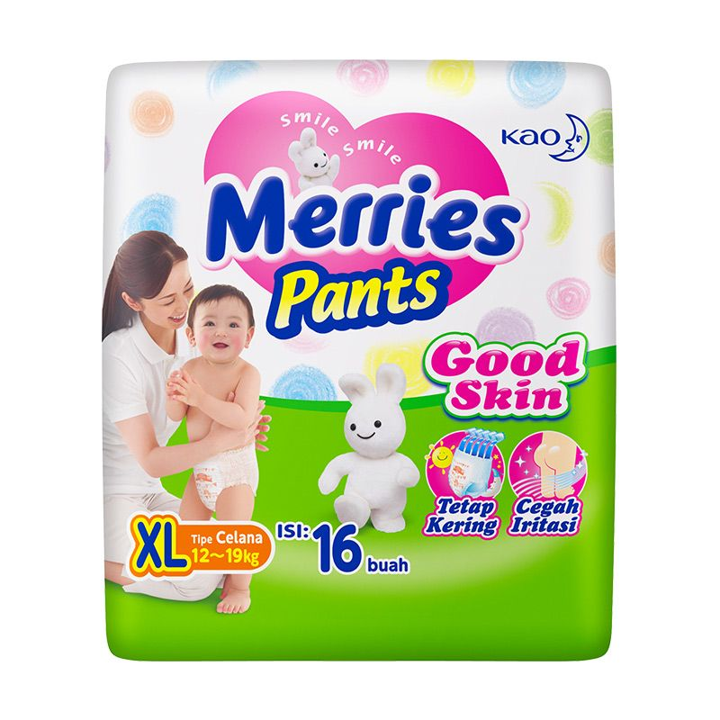 Merries Pants Good Skin XL Popok Bayi [16pcs]