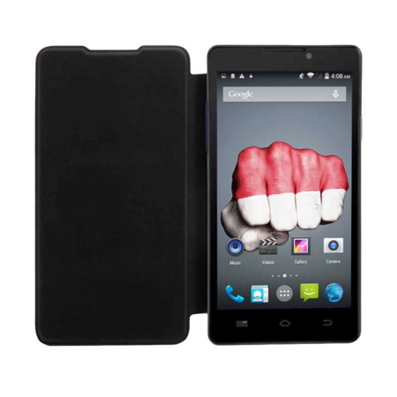 Himax Hitam Flip Cover Casing for Polymer Octacore