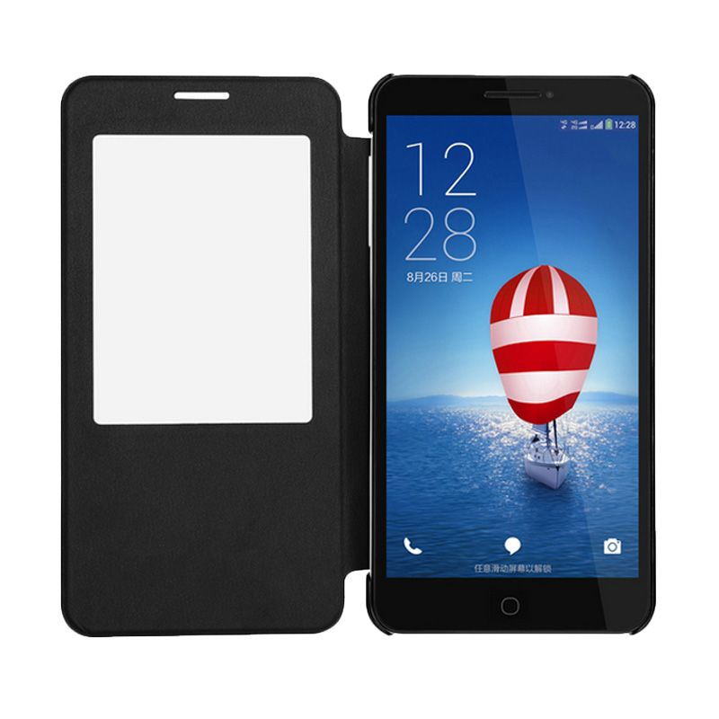 Himax Hitam Flip Cover Casing for Polymer X