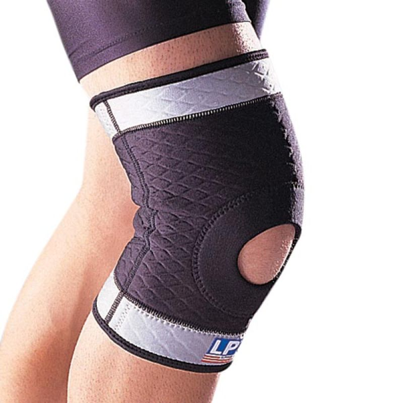 LP Support Knee Open Patella Max Wrap LP-508 Alat Pelindung (Size.L)
