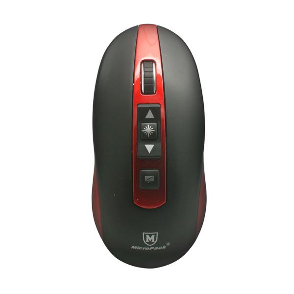 harga MicroPack MP-07 Wireless Mouse & Presenter - Black Red Blibli.com