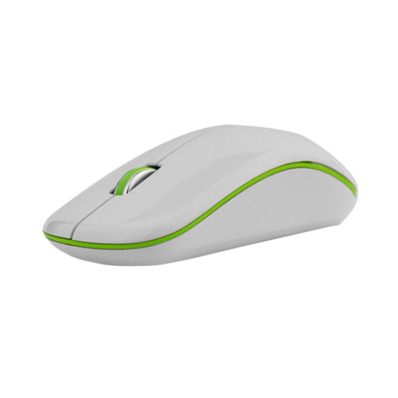Micropack New Mouse MP-770 White & Green (+ mouse pad)