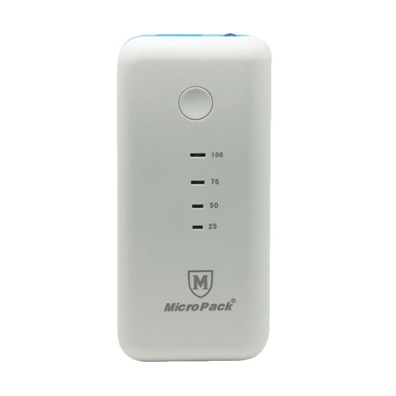 Micropack Powerbank P5200 White Blue [5200 mAh]