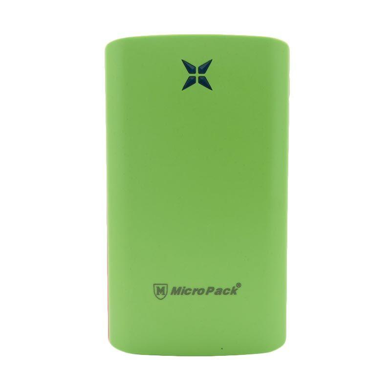 Micropack P8000P Polymer Slim Hijau Powerbank [8000 mAh]