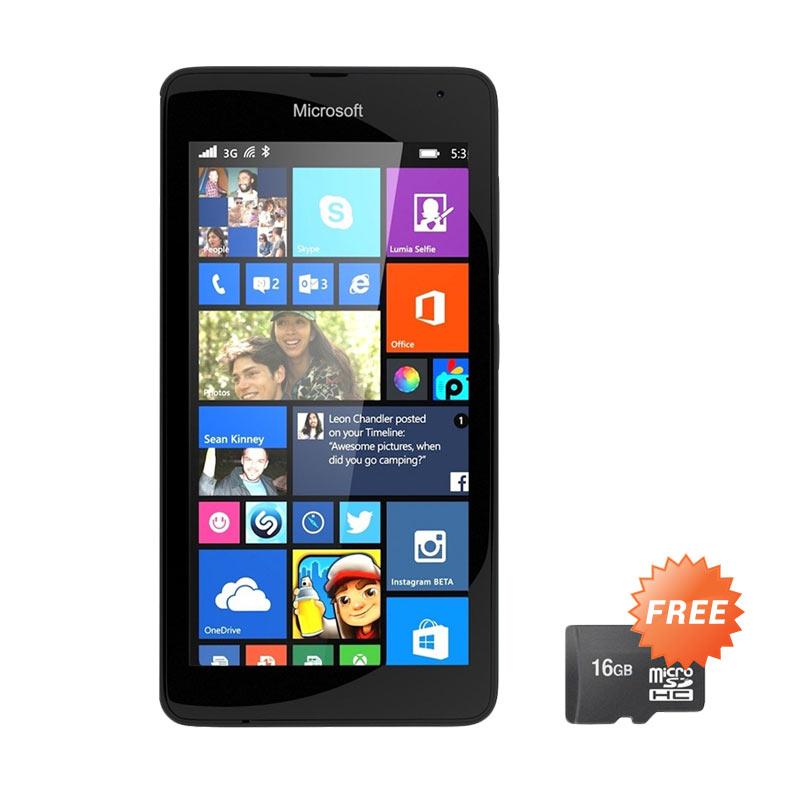 Microsoft Lumia 535 Smartphone - Black [8 GB] + Free MicroSD 16GB
