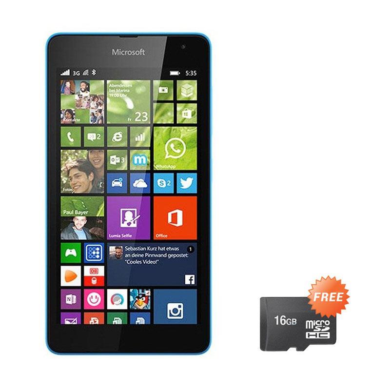 Microsoft Lumia 535 Smartphone - Cyan [8GB/ 1GB] + Free MicroSD 16GB