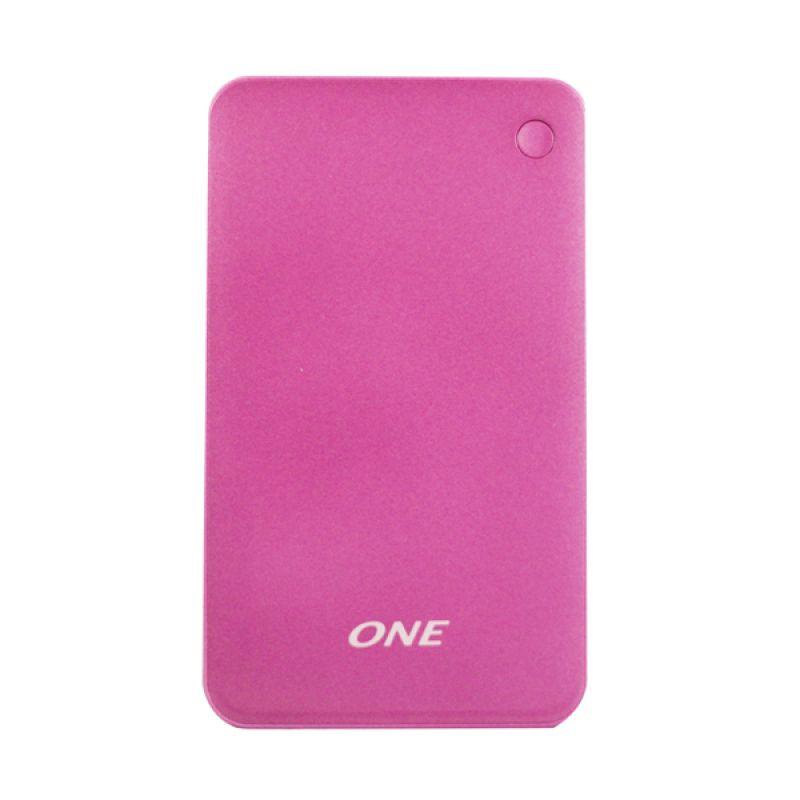 ONE 1200p Pink Powerbank Polimer [12000MAH]
