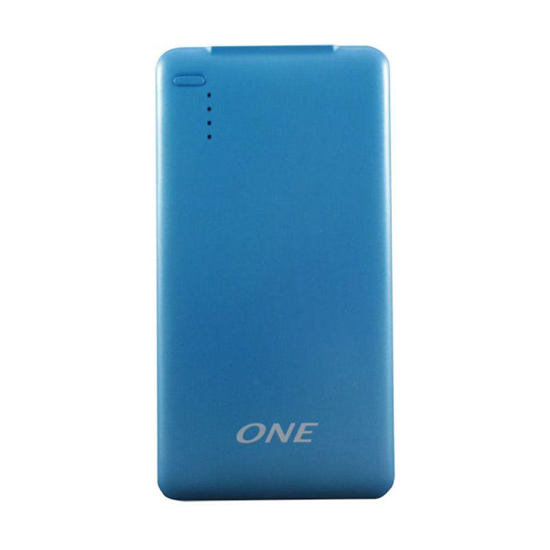 ONE 500p Biru Powerbank Polimer [5000MAH]