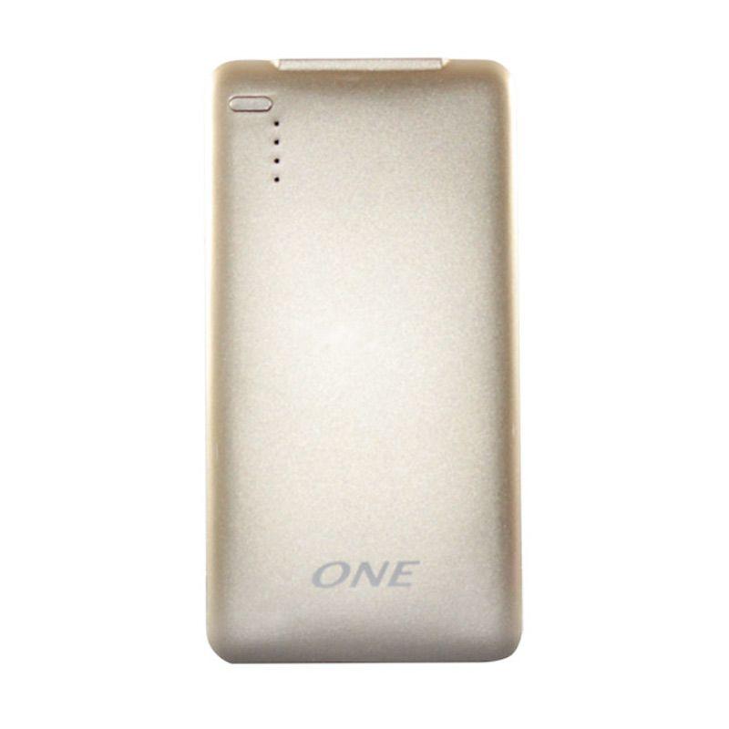 ONE 500p Gold Powerbank Polimer [5000MAH]